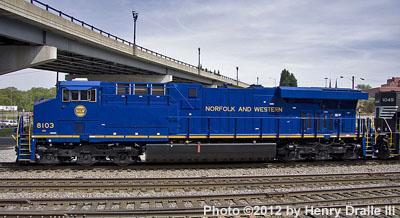 NS GE ES44AC #8103 Norfolk & Western Railway Heritage Unit